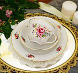 Антикварная фарфоровая чайная тройка, чашка, блюдце и тарелка, Oscar Schaller & Co, Германия, фарфор, фото 6
