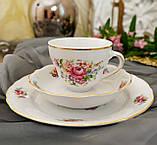 Антикварная фарфоровая чайная тройка, чашка, блюдце и тарелка, Oscar Schaller & Co, Германия, фарфор, фото 4