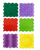 Коврик Универсал 6 элементов Ортопедический массажный коврик, Пазлы Ортодон детский, развивающий