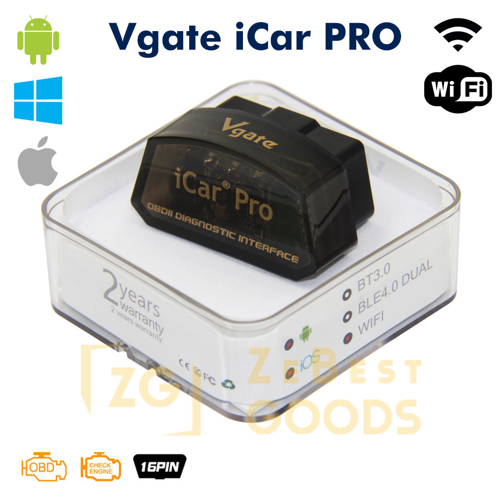 Автосканер ELM327 Vgate iCar PRO OBD2 WiFi для Android/iOs версия 2.2 (оригинал)