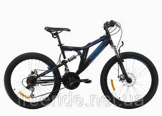 Двопідвісний Велосипед Azimut Blackmount 26 D (18) чорно-синій
