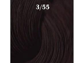 Краска-уход для волос ESTEL professional DE LUXE 3/55 De Luxe Темний шатен червоний інтенсивний