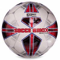 М'яч футбольний професійний №5 SOCCERMAX IMS FB-0005 (PU, білий-червоний)