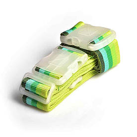 Багажный ремень-крепление на чемодан Travel Blue зеленый/желтый (042G)