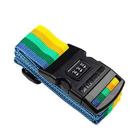 Багажный ремень-крепление на чемодан Travel Blue 3 циферблата разноцветный (047Y)