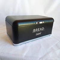 Хлебница Maestro, металлический корпус, диаметр 34.5см, цвет - черный, MR-1677-AR-BL