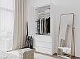 Шкаф для одежды с 3 ящиками Белый, фото 3
