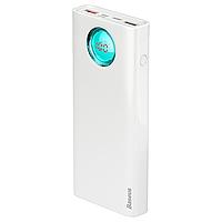 Повербанк BASEUS Amblight Quick with Display 20000mAh |2USB/Type-C/Lightning, PD3.0/QC3.0, 3A/18W| Белый