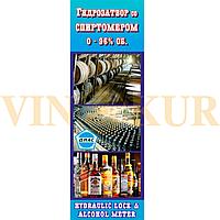 Винный гидрозатвор + спиртомер бытовой ДИАС