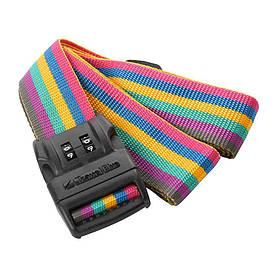Багажный ремень-крепление на чемодан Travel Blue 2 циферблата разноцветный (046R)