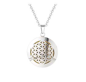 """Медальон для ароматерапии """"Цветок жизни"""" с блоттером."""