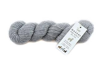 Gazzal Baby Alpaca Pure Color, Серый №6452