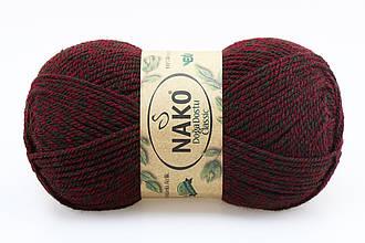 Nako Doga Dostu Classic, Красно-зеленый меланж №40076