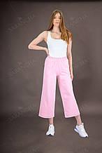 Кюллоты брюки женские летние розового цвета