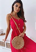 Жіноче плаття завдовжки міді на бретельках, гудзики по всій довжині, фото 2