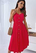 Жіноче плаття завдовжки міді на бретельках, гудзики по всій довжині, фото 3