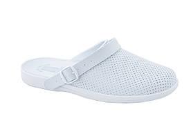 Обувь (сабо) мужская медицинская, Молдавия, модель Ионел белая р.40- р.46 41