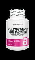 Витамины и минералы BioTech Multivitamine for Woman 60caps.