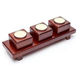 Подсвечник PWK-01 на три свечи квадратиками