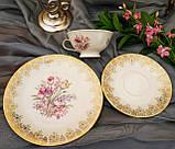 Порцеляновий чайна трійка, чашка, блюдце й тарілка, Porzellanfabrik Oscar Schaller & Co, Німеччина, фарфор, фото 8