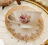 Порцеляновий чайна трійка, чашка, блюдце й тарілка, Porzellanfabrik Oscar Schaller & Co, Німеччина, фарфор, фото 4