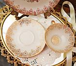 Порцеляновий чайна трійка, чашка, блюдце й тарілка, Porzellanfabrik Oscar Schaller & Co, Німеччина, фарфор, фото 6