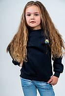 Джемпер детский 5-6 лет из трехнитки с начесом графит