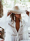 Летняя хлопковая пляжная накидка Белая, фото 7