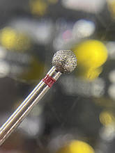 Алмазная Фреза  (M-018) - Шарик Red 5мм