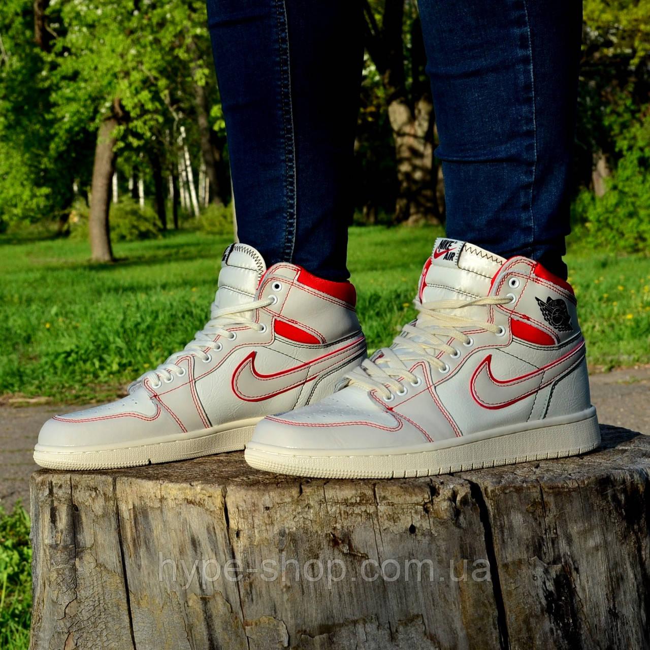 Чоловічі кросівки Nike Air Jordan 1 Retro High OG White/Red