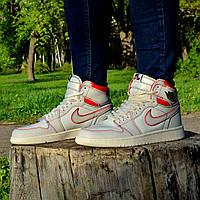 Чоловічі кросівки Nike Air Jordan 1 Retro High OG White/Red, фото 1