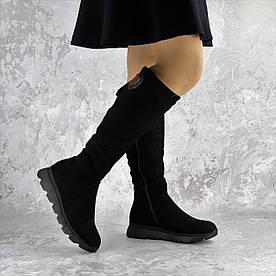 Сапоги женские Fashion Kiddo 2301 36 размер 23,5 см Черный
