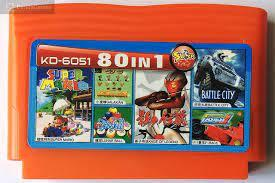 Картридж Денді 8-біт multicart KD-6051 (80 в 1) Super Mario, Galaxian, Lunar Ball, Legend of Kage, Battle C