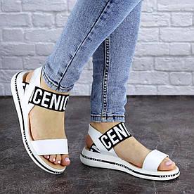 Жіночі сандалі шкіряні Fashion Milly 1876 36 розмір, 23,5 см Білий