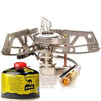 Пальник газовий з п'ятьма єзопідпалом, зі шлангом Tramp TRG-010. Пальник туристична