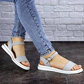 Жіночі сандалі шкіряні Fashion Destiny 1856 38 розмір 24,5 см Сірий