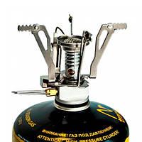Пальник газовий складний з п'ятьма єзопідпалом Tramp TRG-009. Пальник туристична