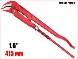 """Ключ трубний важільний цельнокованый 45° 1.5"""" Yato YT-2214"""