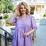 Літній сарафан плаття вільного фасону 100% бавовна розмір від 48 до 64, фото 5