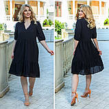 Літній сарафан плаття вільного фасону 100% бавовна розмір від 48 до 64, фото 4