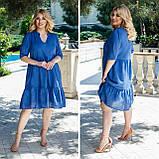 Літній сарафан плаття вільного фасону 100% бавовна розмір від 48 до 64, фото 2