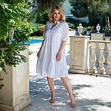 Літній сарафан плаття вільного фасону 100% бавовна розмір від 48 до 64, фото 10