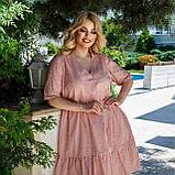 Літній сарафан плаття вільного фасону 100% бавовна розмір від 48 до 64, фото 7