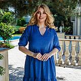 Літній сарафан плаття вільного фасону 100% бавовна розмір від 48 до 64, фото 8