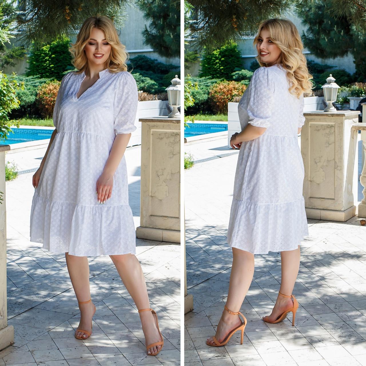 Літній сарафан плаття вільного фасону 100% бавовна розмір від 48 до 64