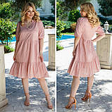 Літній сарафан плаття вільного фасону 100% бавовна розмір від 48 до 64, фото 3