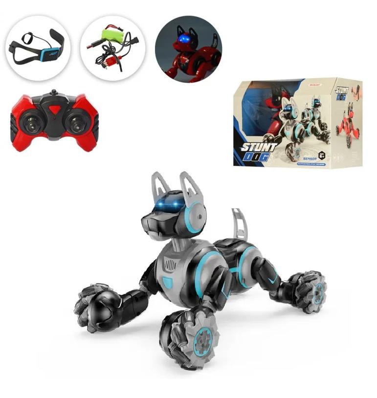 Інтерактивна робот-собака для хлопчика 666-800A на радіокеруванні Чорна