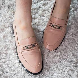 Женские мокасины Fashion Diva 1932 39 размер 25 см Бежевый
