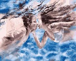 Картины по номерам 40×50 см Babylon Поцелуй под водой (VP 1372)