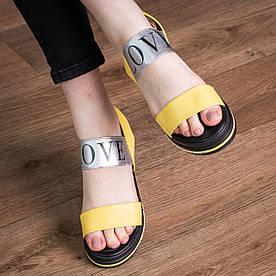 Жіночі сандалі Fashion Luna 1799 38 розмір 24,5 см Жовтий